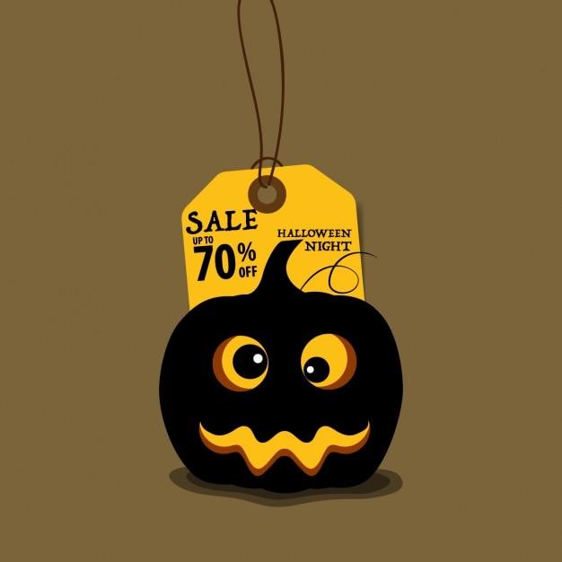 Sprzedaż Hallowen Tle Z Dyni Darmowych Wektorów