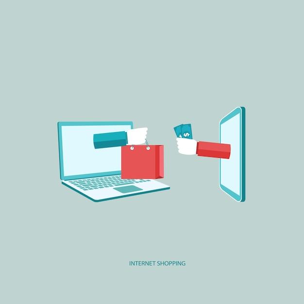 Sprzedaż Internetowa, Zakupy On Line Darmowych Wektorów