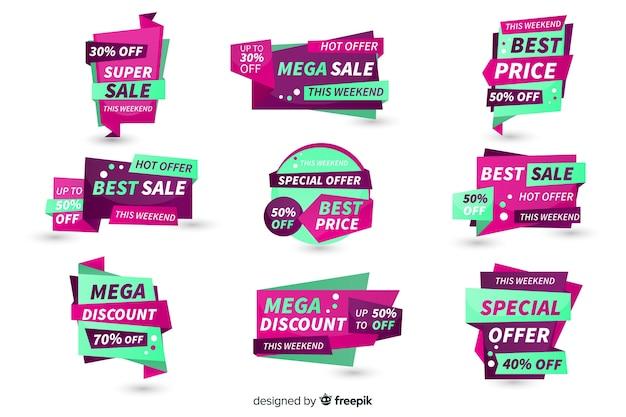 Sprzedaż kolekcji etykiet Darmowych Wektorów