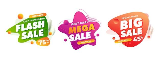 Sprzedaż Odznaki Dla Offline Promocji Sklepu Internetowego Znak Rabatu Premium Wektorów