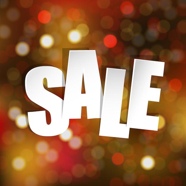 Sprzedaż Plakat Z Bokeh Premium Wektorów