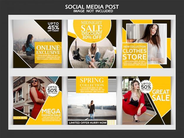 Sprzedaż Szablonu Postu Instagram Premium Wektorów