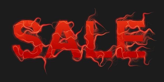 Sprzedaż Tekst Tło Wektor Z Płomieni Czerwonego Ognia Darmowych Wektorów