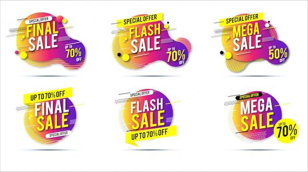 Sprzedaż transparentu promocyjnego Premium Wektorów