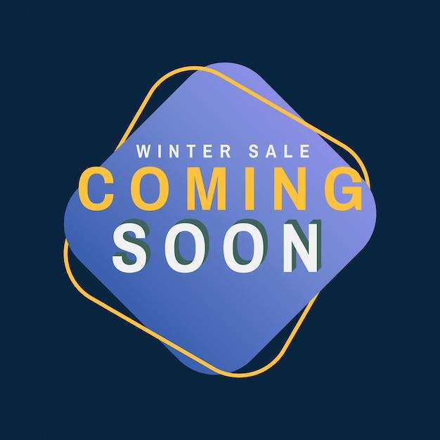Sprzedaż zimowy wkrótce wektor Darmowych Wektorów