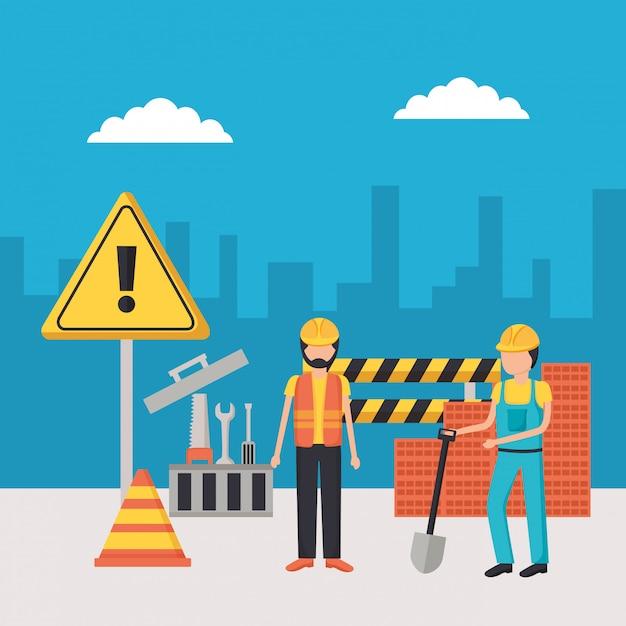 Sprzęt Budowlany Dla Pracowników Darmowych Wektorów