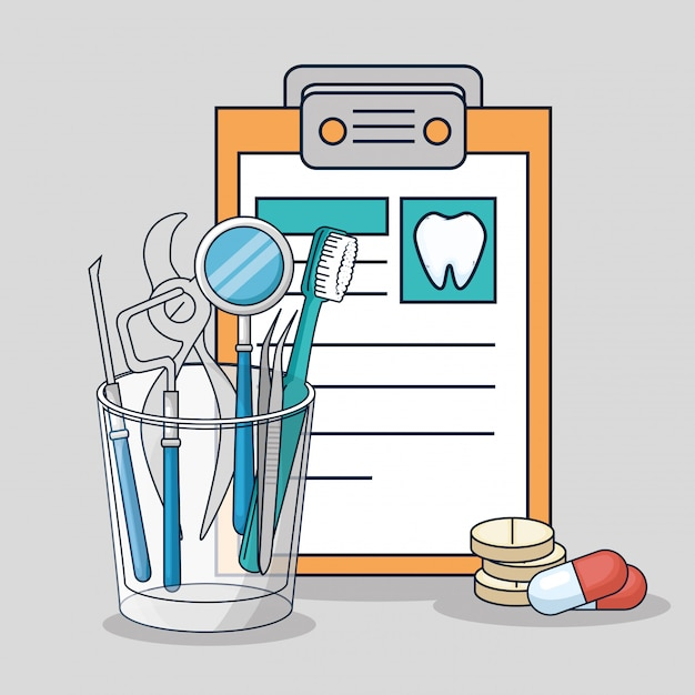 Sprzęt do diagnostyki medycznej i leczenia stomatologicznego Darmowych Wektorów