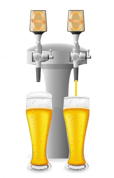 Sprzęt do piwa Premium Wektorów
