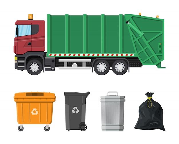 Sprzęt Do Recyklingu I Utylizacji Premium Wektorów