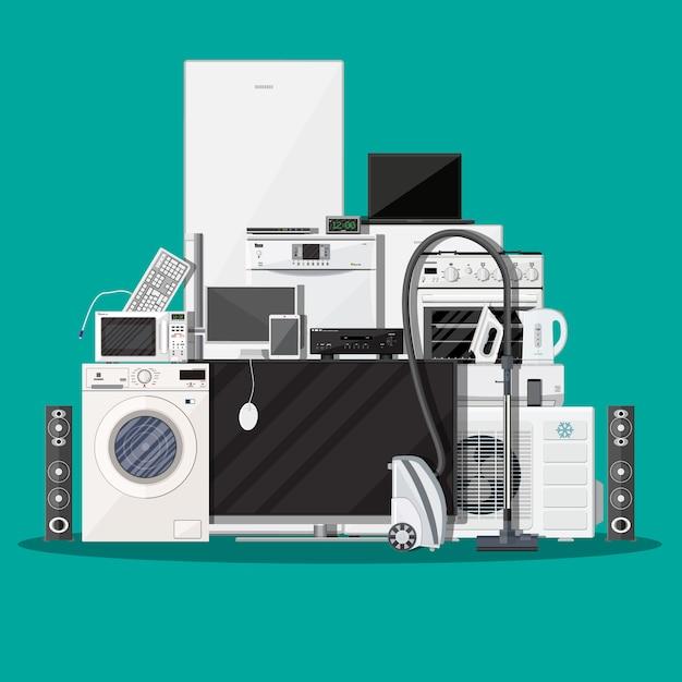 Sprzęt Gospodarstwa Domowego I Urządzenia Elektroniczne Premium Wektorów