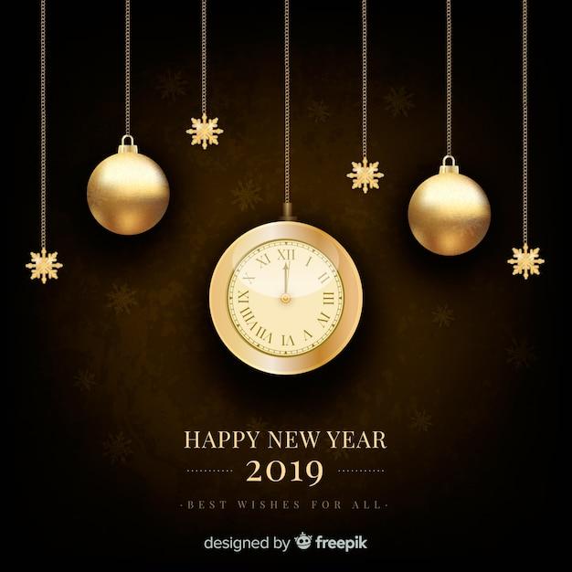 Srebny nowego roku 2019 tło Darmowych Wektorów