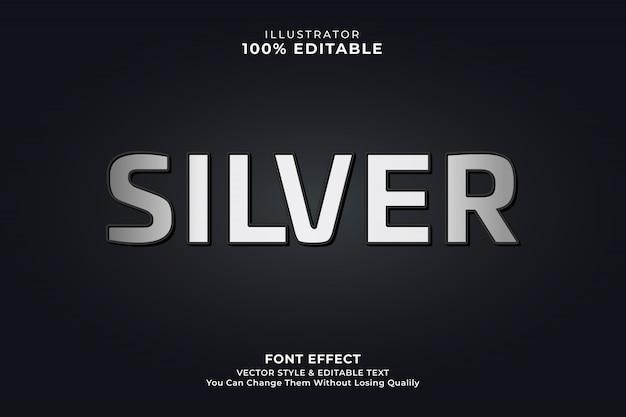 Srebrny Minimalny Efekt Tekstowy Premium Wektorów