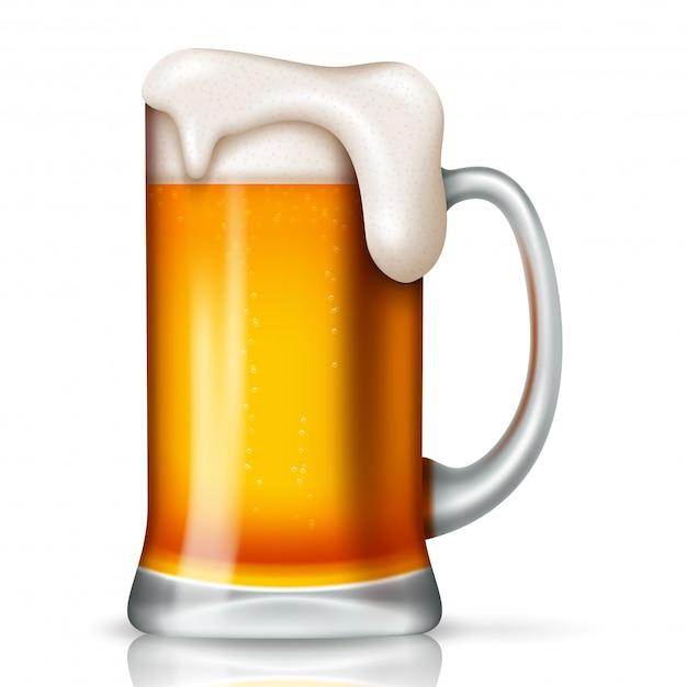 St patrick's day tło z szklanym piwem Premium Wektorów