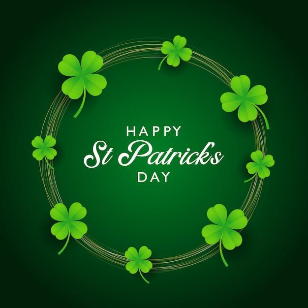St Patricks Day Tło Z Koniczyny I Złote Kółka Darmowych Wektorów