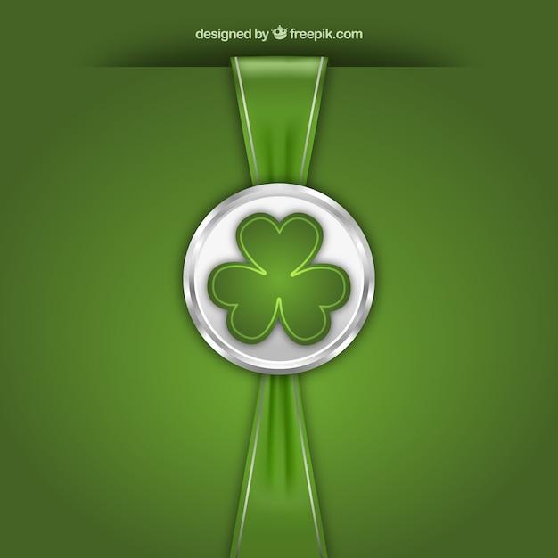 St Patricks Day Znaczek Z Wstążką Darmowych Wektorów