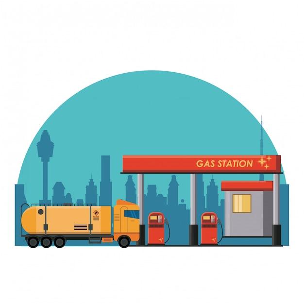 Stacja Benzynowa Premium Wektorów