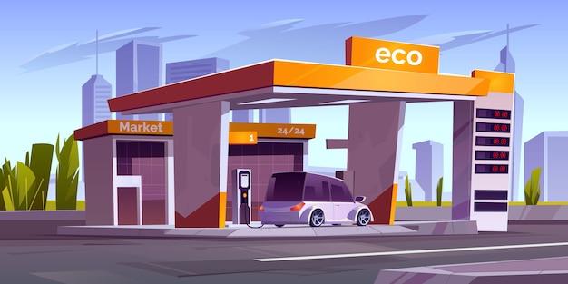 Stacja ładująca Do Samochodów Elektrycznych Z Wyświetlaczem Rynku I Cen Darmowych Wektorów