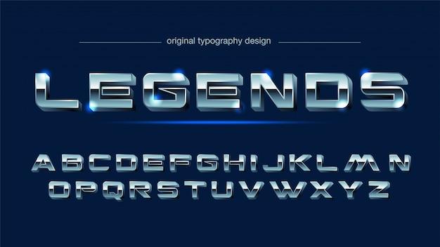 Stal chrom stal typografia Premium Wektorów