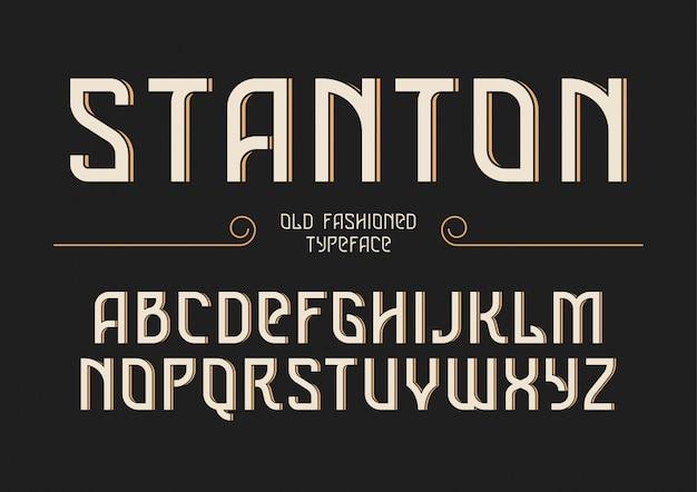 Stanton Ozdobny Krój Retro Vintage Premium Wektorów