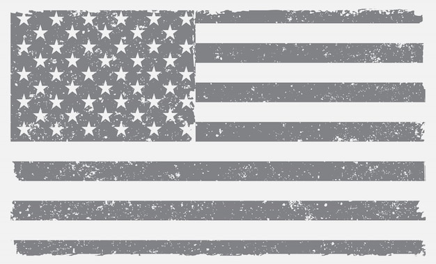 Stara Amerykańska Flaga Premium Wektorów