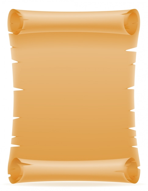 Stara papierowa ślimacznica wektorowa ilustracja Premium Wektorów