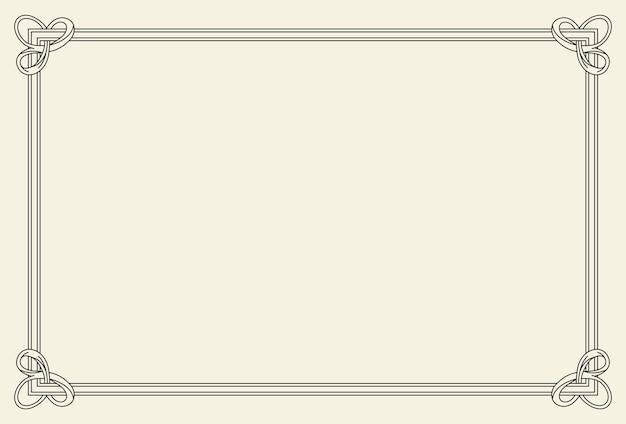 Stara Rama. Retro Ozdobne Ramki, Ornament Vintage Prostokąt, Ozdobna Granica. Ozdobne Obramowania Muzeum Antyków Lub Dzielnik Deko. Premium Wektorów