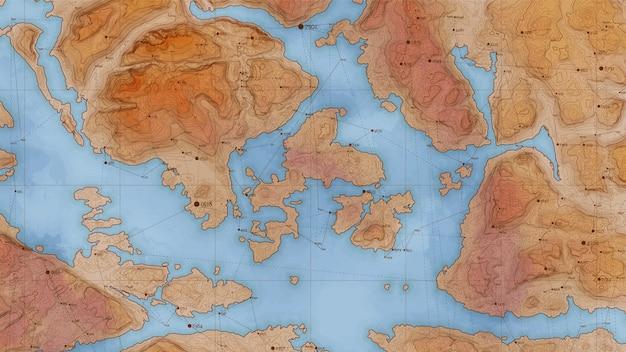 Starożytna Abstrakcyjna Mapa Ulgi Z Dużymi Danymi I Połączeniami. Darmowych Wektorów