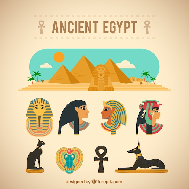 Starożytne Elementy Egipt Darmowych Wektorów