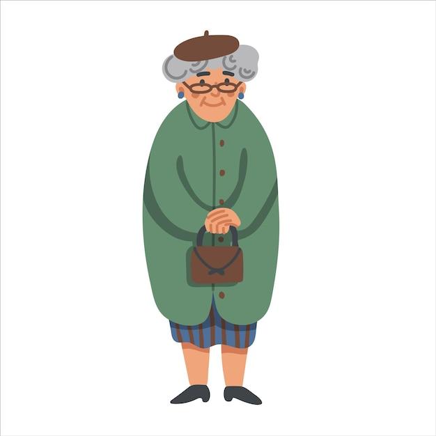 Starsza Kobieta Premium Wektorów
