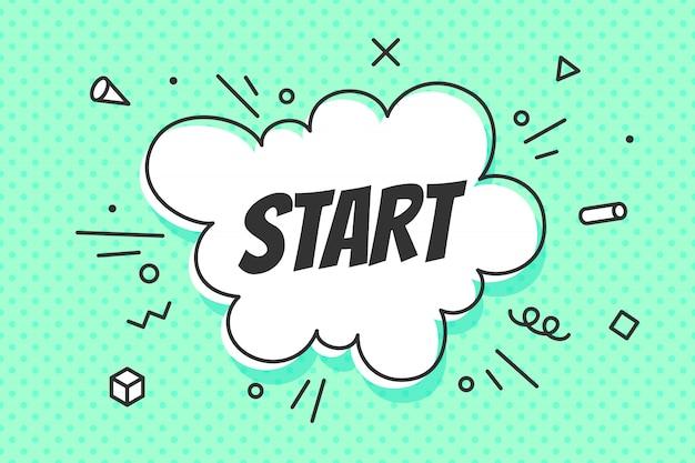 Start, Dymek. Premium Wektorów