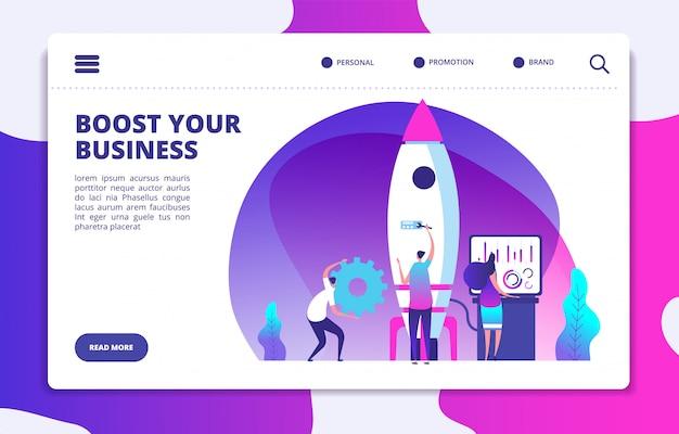 Startowa Strona Docelowa Premium Wektorów