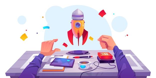 Startup Sukces, Uruchom Projekt Biznesowy. Darmowych Wektorów