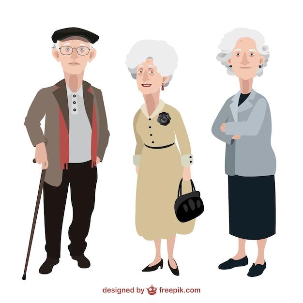 Starzy ludzie ilustracja Darmowych Wektorów