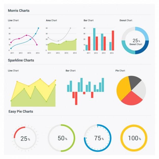 Statystyki infografika Darmowych Wektorów