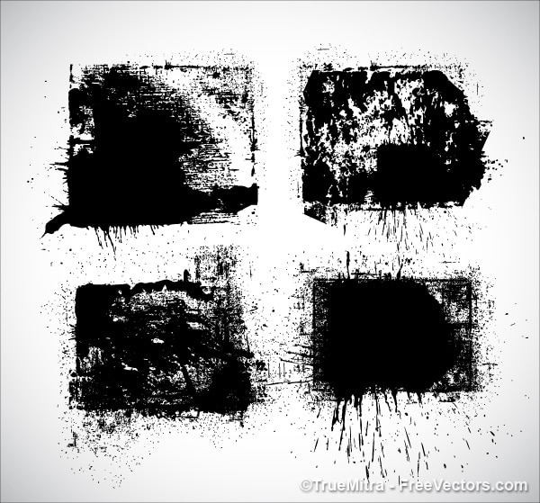 Stein czarna farba powitalny zestaw Darmowych Wektorów