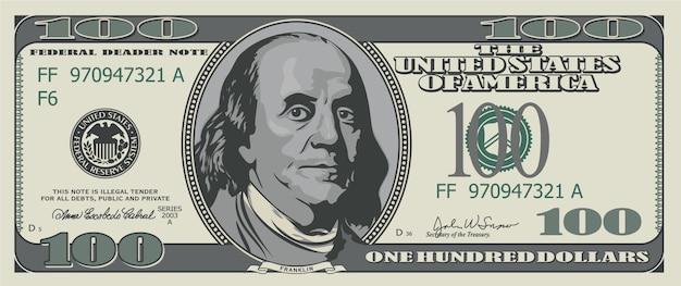 Sto Dolarów. Premium Wektorów