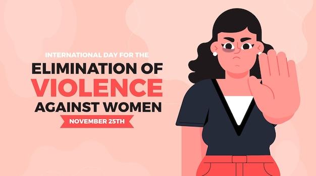 Stop Przemocy Wobec Kobiet Zły Kobiecy Charakter Darmowych Wektorów
