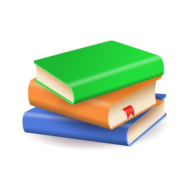 Stos kolorowych książek Darmowych Wektorów