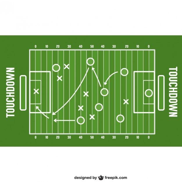 Strategia gry futbol amerykański Darmowych Wektorów