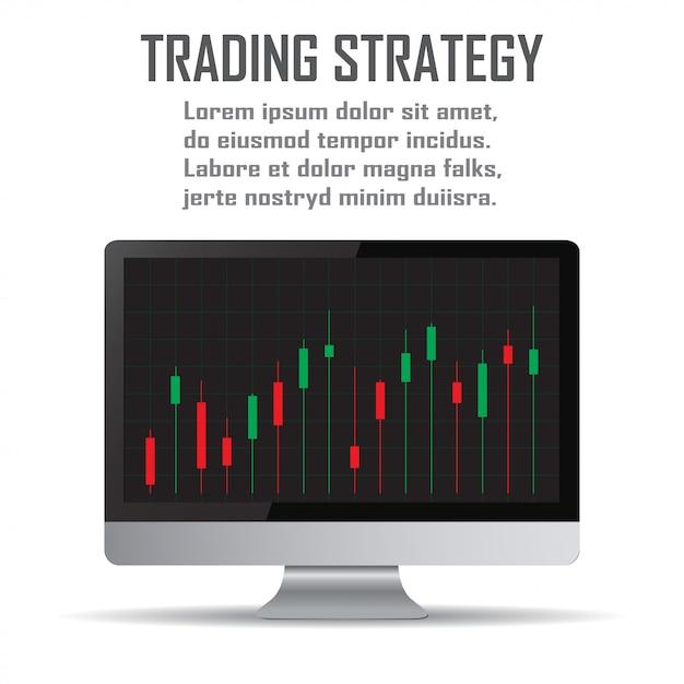 Strategia Handlowa. Strategie Inwestycyjne I Koncepcja Sztuki Online Premium Wektorów