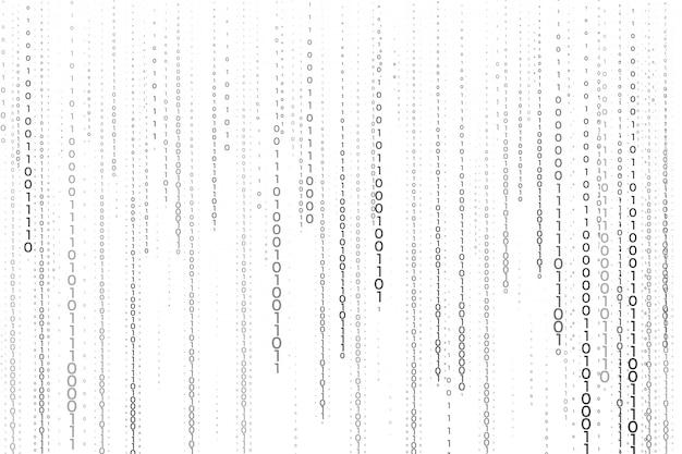 Streaming Binarnego Kodu Liczb W Tle Technologii Darmowych Wektorów