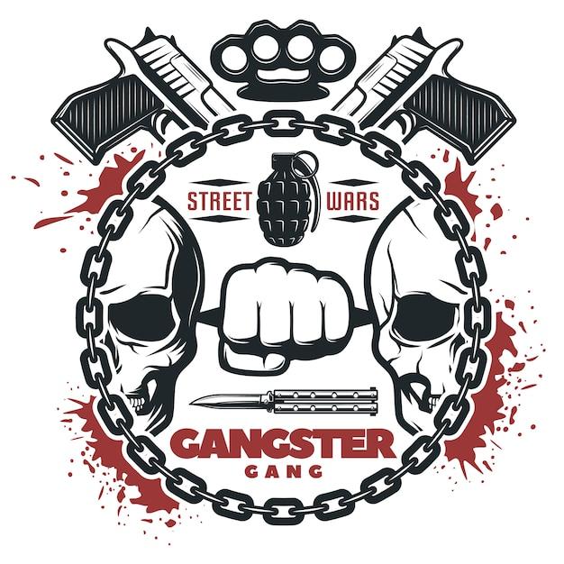Street Gang Wars Print Darmowych Wektorów
