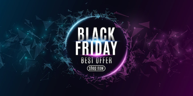Streszczenie Baner Internetowy Do Sprzedaży W Czarny Piątek. Premium Wektorów