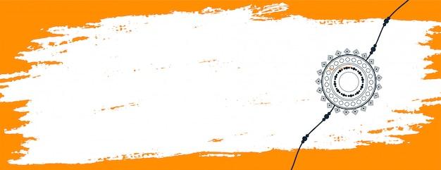 Streszczenie Baner Raksha Bandhan Z Miejsca Na Tekst Darmowych Wektorów