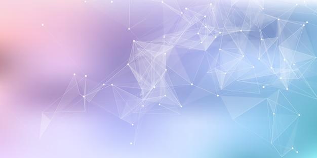 Streszczenie Baner Z Projektem Komunikacji Sieciowej Low Poly Splotu Darmowych Wektorów