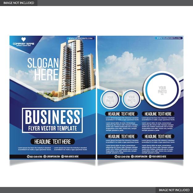 Streszczenie biznes flayer kolekcja z nowoczesnych kształtów Premium Wektorów