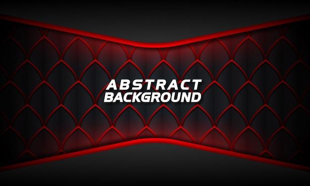 Streszczenie blask czerwony na ciemnym tle Premium Wektorów