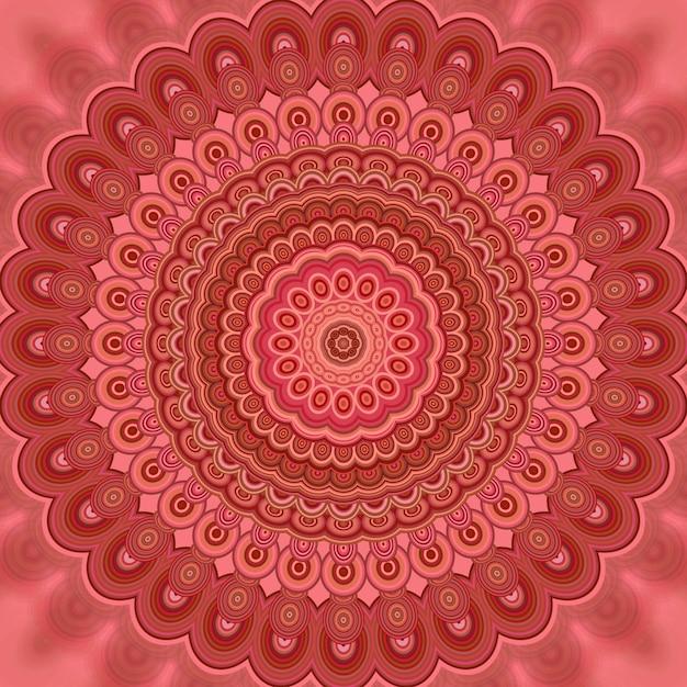 Streszczenie Bohemian Mandala Fraktali T? A - Okr? G? E Symetryczne Wektora Wzoru Wzór Z Koncentrycznych Owalnych Kszta? Tów Premium Wektorów