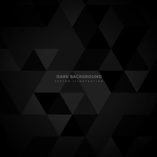 Streszczenie ciemne tło z trójkątów Darmowych Wektorów