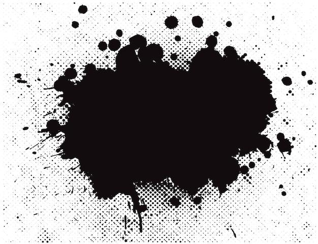 Streszczenie Czarne Plamy Tło Premium Wektorów